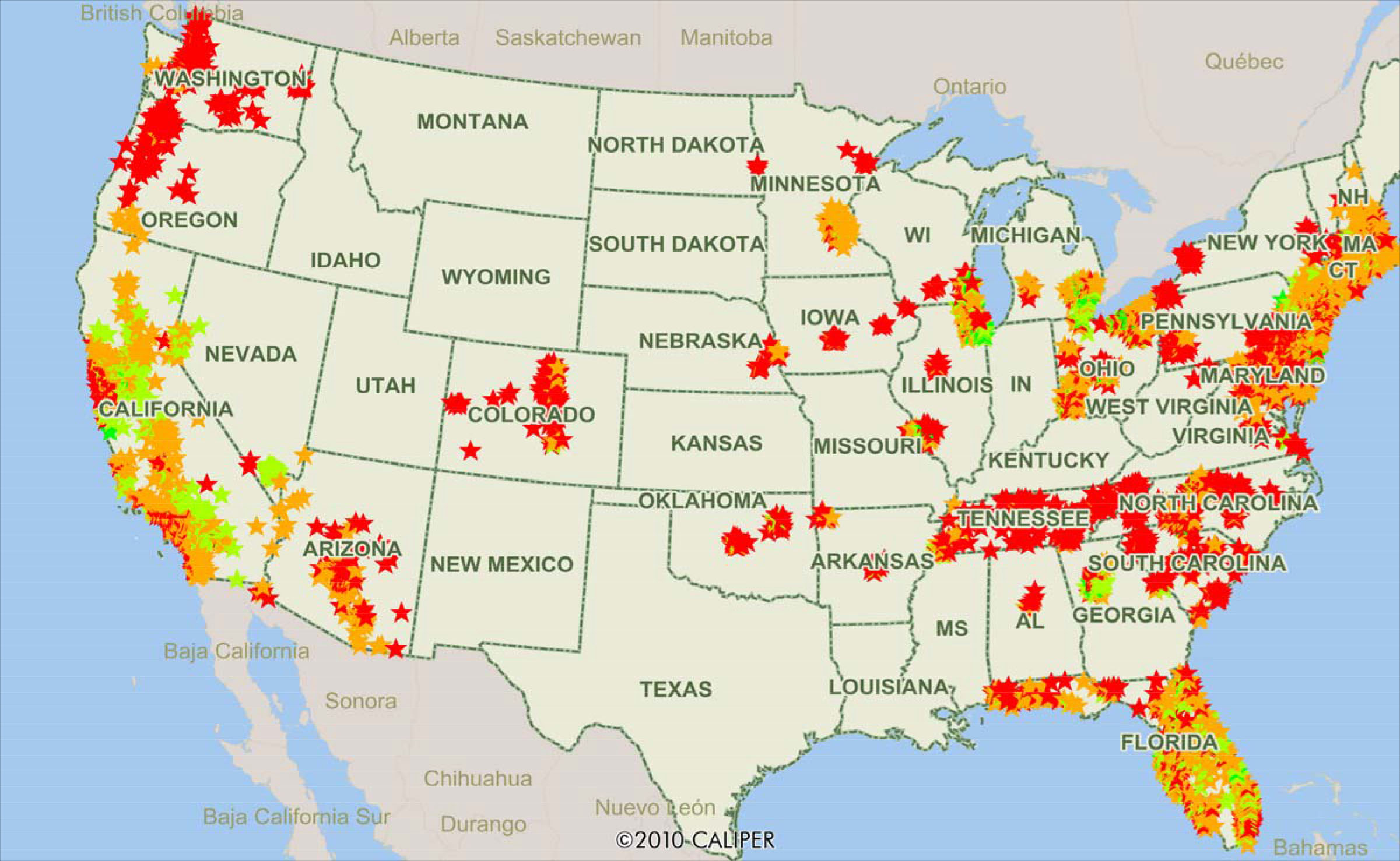 Heres Strong Proof Of The Wide Differences In Local House Prices - House pricing in us map